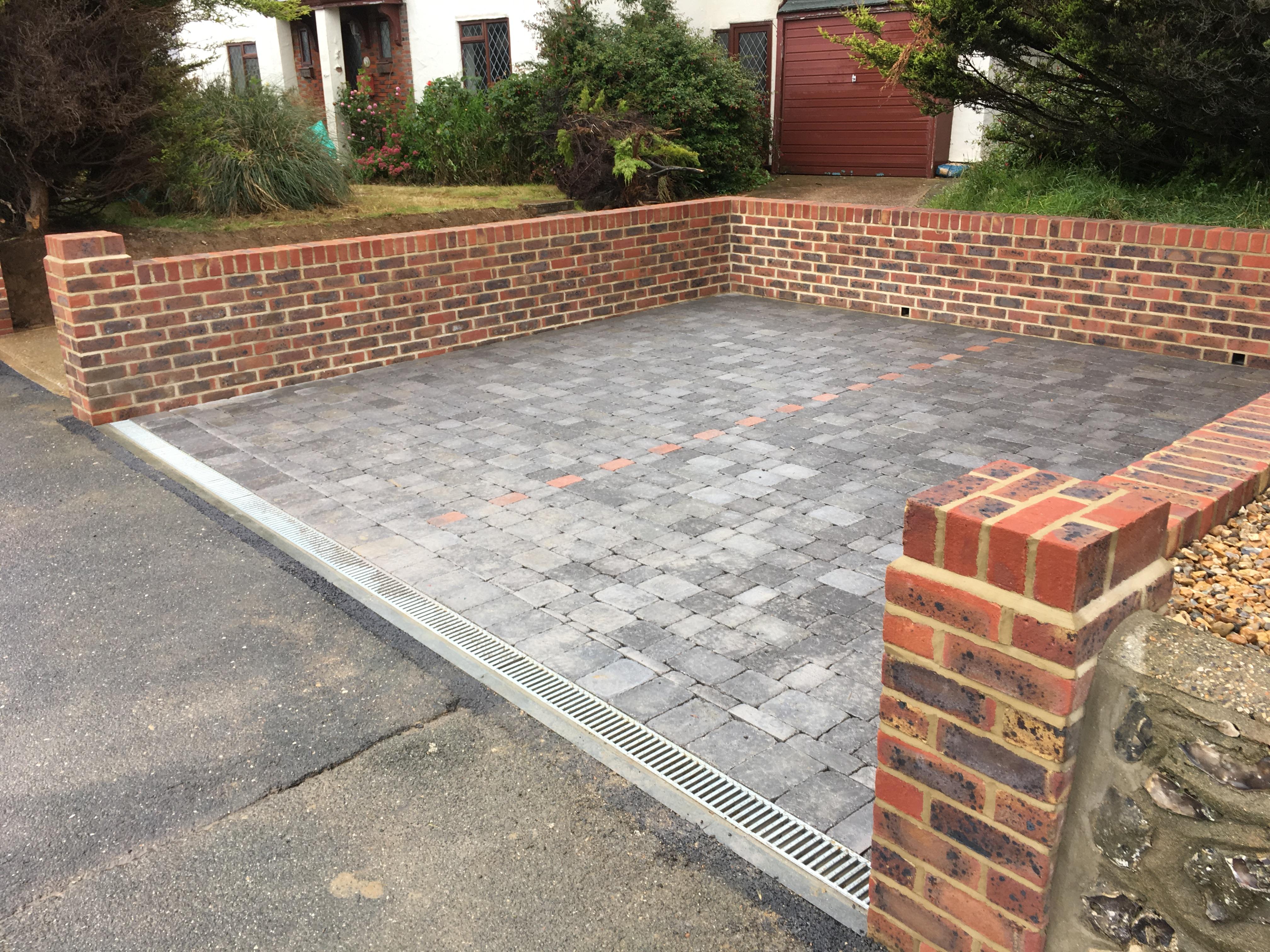 Tumbled sets, drive way and garden walls, Blackchington, Seaford