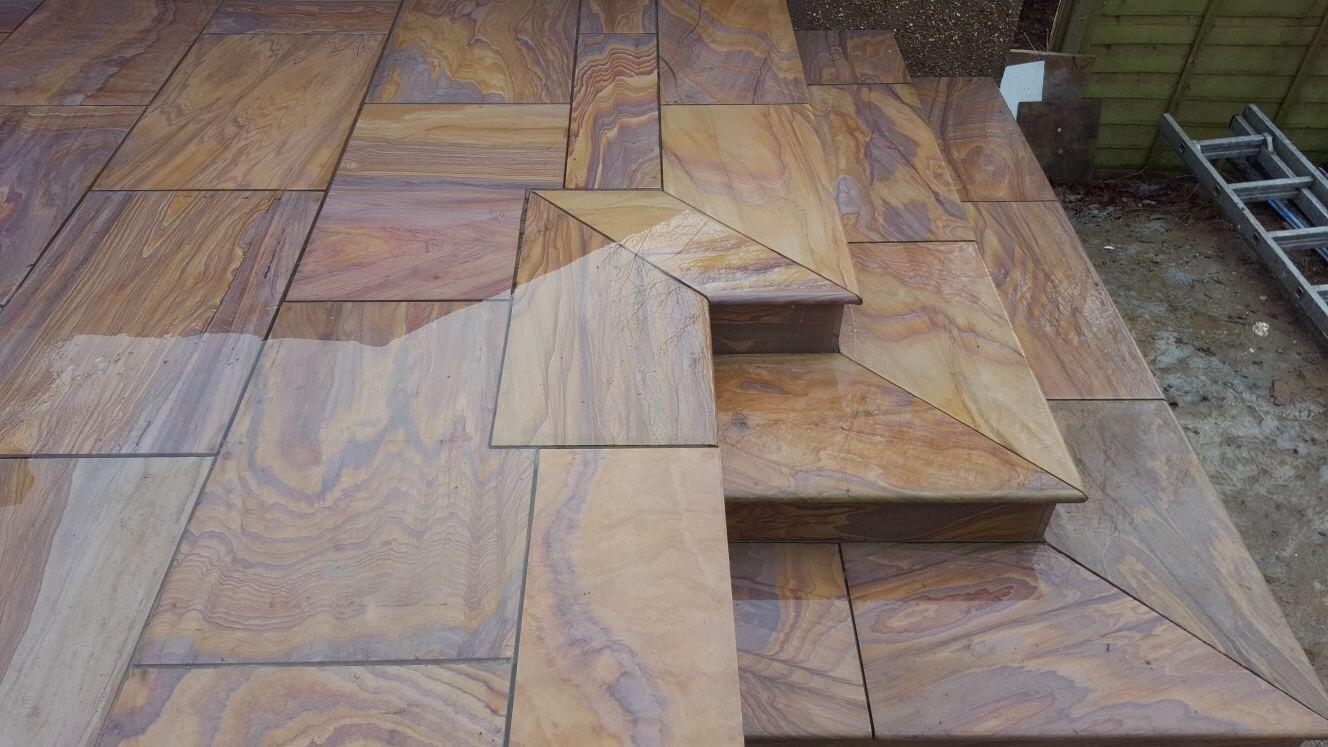 wood effect look patio